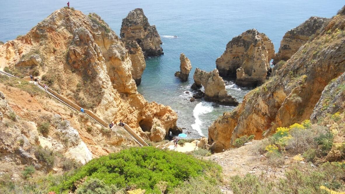 Treppe-Bucht-Lagos-Ferienwohnung-Portugal Ferienwohnung Algarve 2 Personen Lagos Portugal